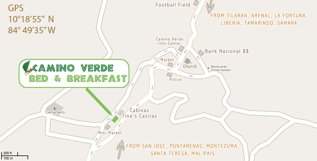 monteverde hotel map